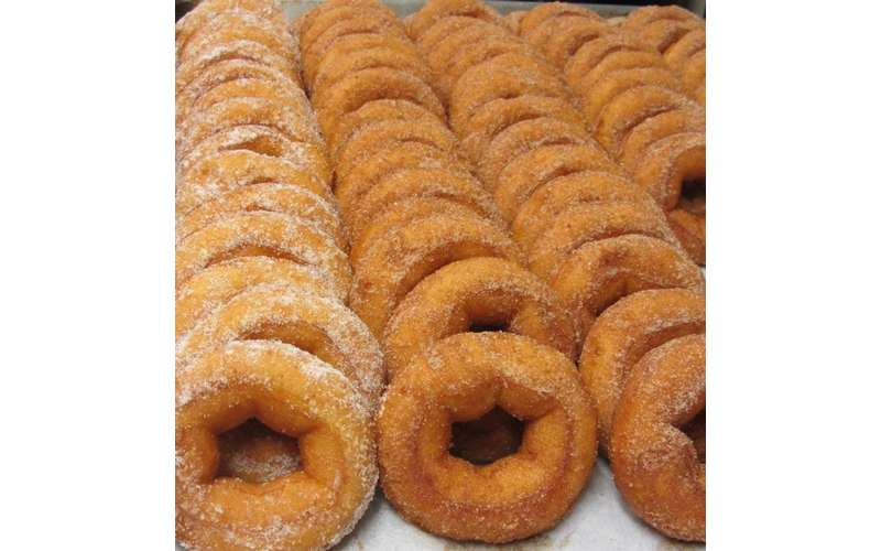 Enjoy some fresh apple cider doughnuts right on site.