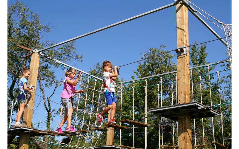 The ropes course is tons of fun and the perfect playground for kids.