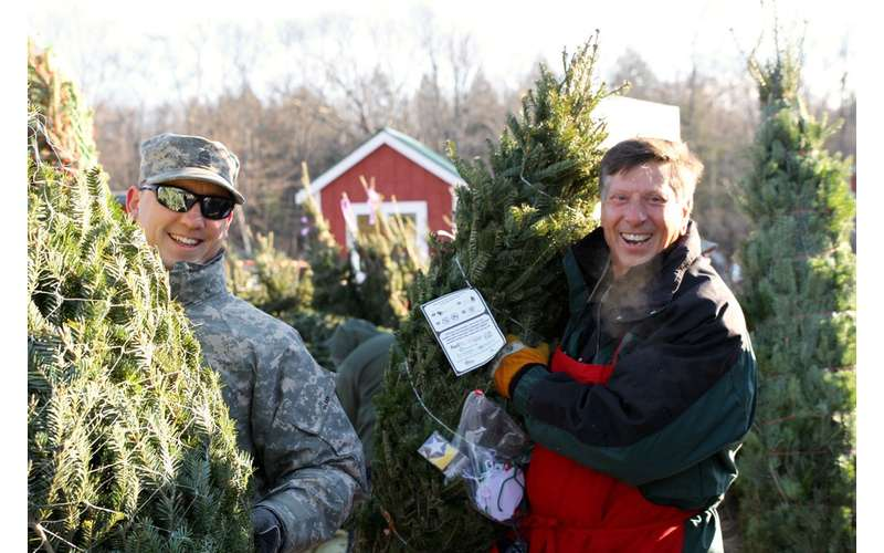 Ellms Family Farm helps coordinate the local Trees for Troops effort.