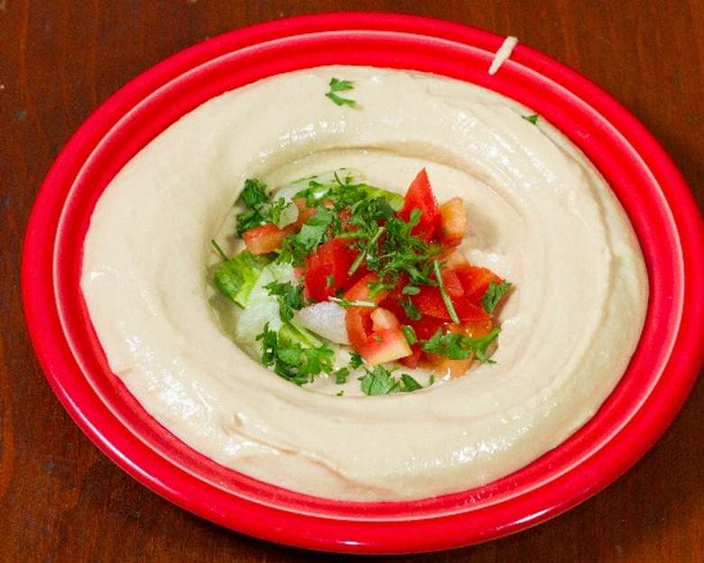 a hummus dish