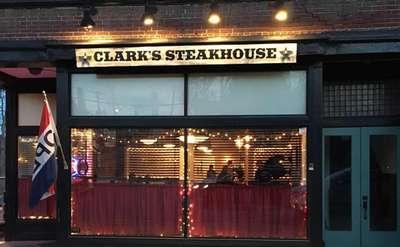 exterior of clark's steakhouse