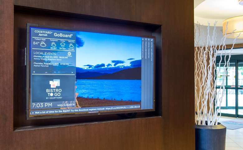 interactive GoBoard display in lobby