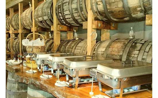 food by barrels