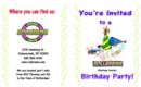 Rollarama Birthday Party Invite; Epic Explosion Roller Skate Party, Games, Pizza in Reserved Party Room