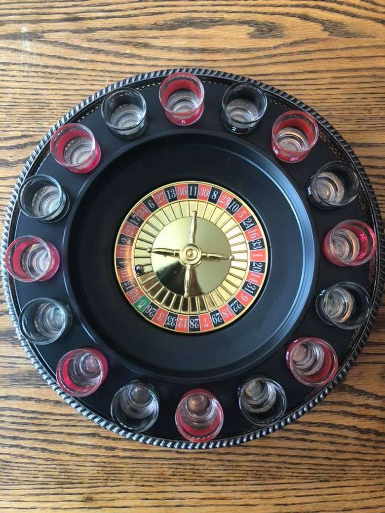 a drink roulette board