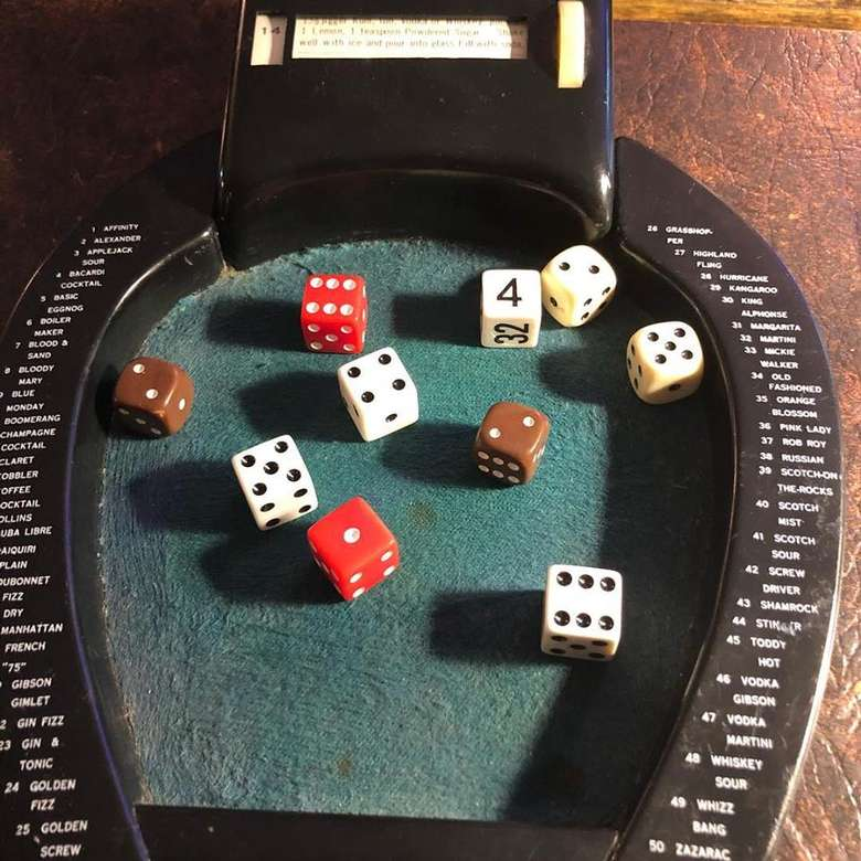 10 dice on a board