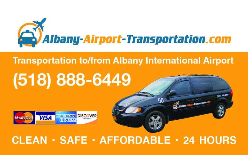 albany airport transportation car poster