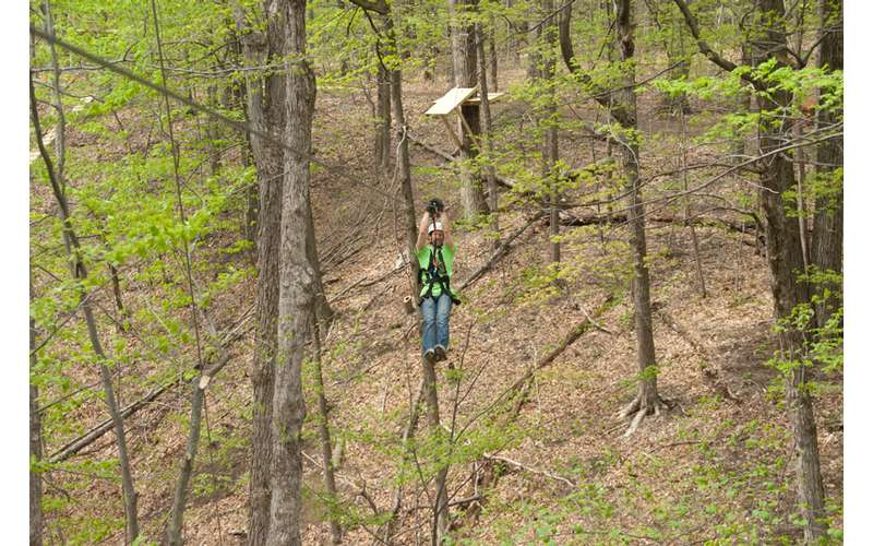 Feel the breeze in your face as you zip line through the trees.