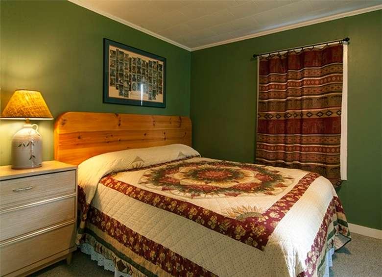 queen bedroom of cabin number 1