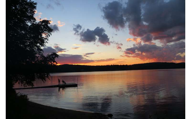 Another gorgeous sunset from the Lean to/fire pit area.