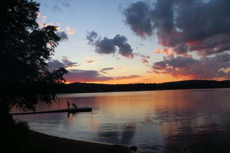 sunset on long lake