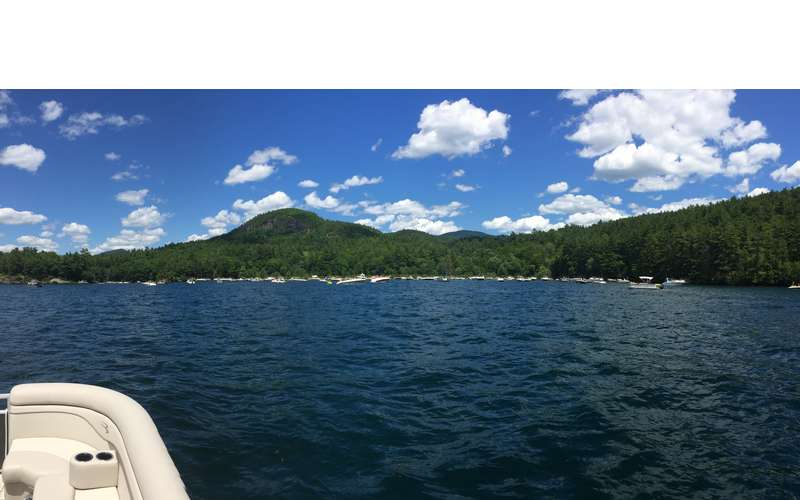 Enjoy sightseeing as Blue Line Charters takes you for a scenic tour of Lake George.