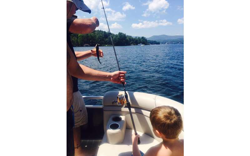 Turn your private boat tour on Lake George into a fishing trip!