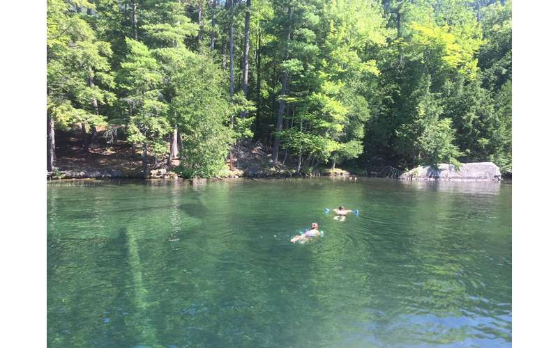 Blue Line Charters will bring you to some popular swimming spots on Lake George.