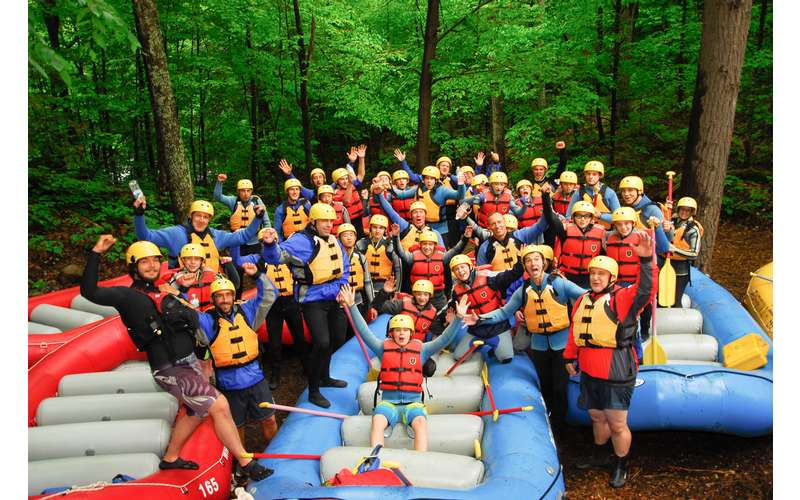Group Rafting Photo at the Hudson River