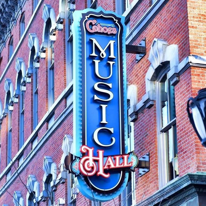 Cohoes Music Hall sign