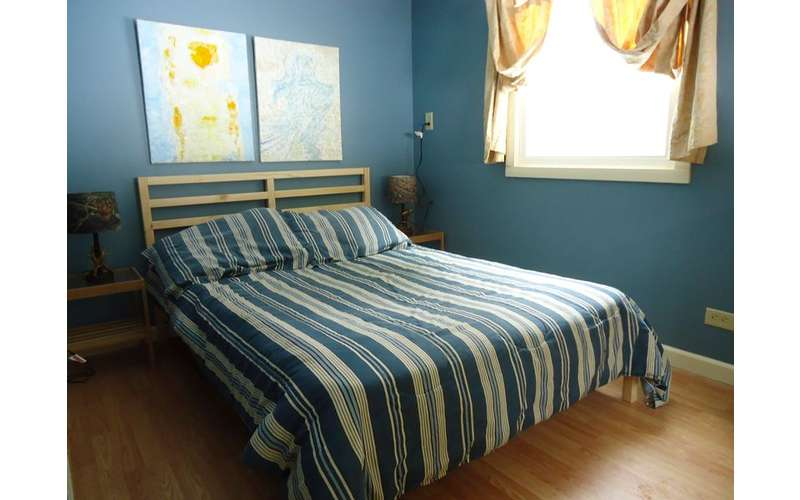Bedroom all in blue