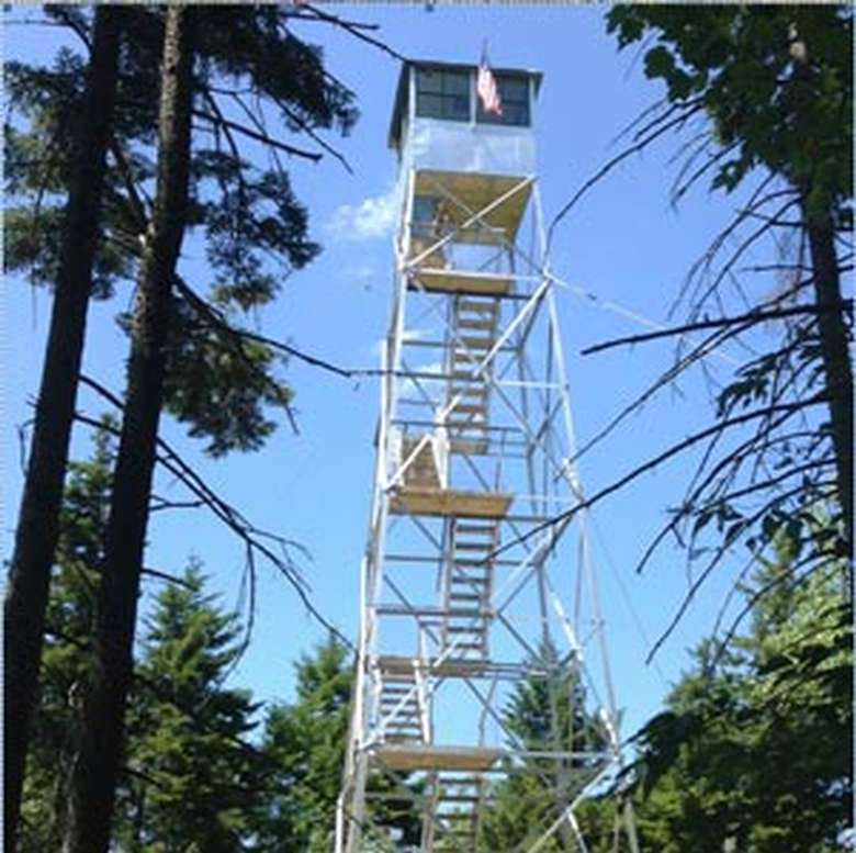 firetower on a sunny day
