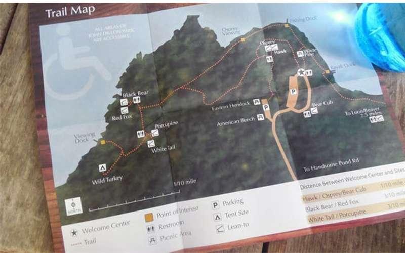 close up of map
