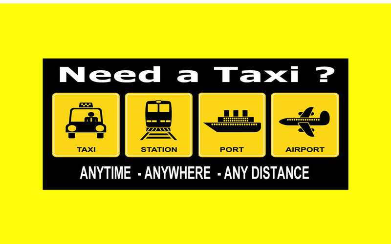 a graphic showcasing the services a taxi company offers