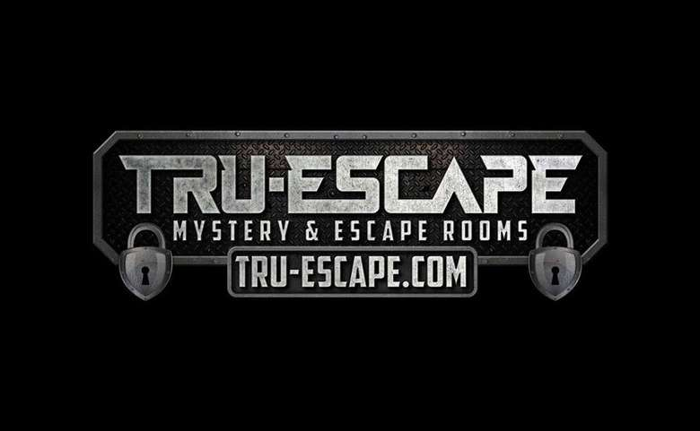 the logo for tru-escape mystery escape room