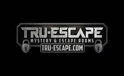 the logo for tru-escape mystery escape room