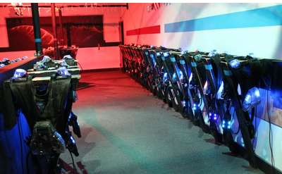 laser tag equipment room