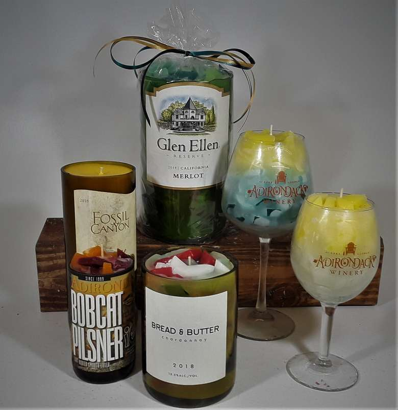 Wonderful and Fragrant Wine Bottle, Beer Bottle and Wine Glass Candles.
