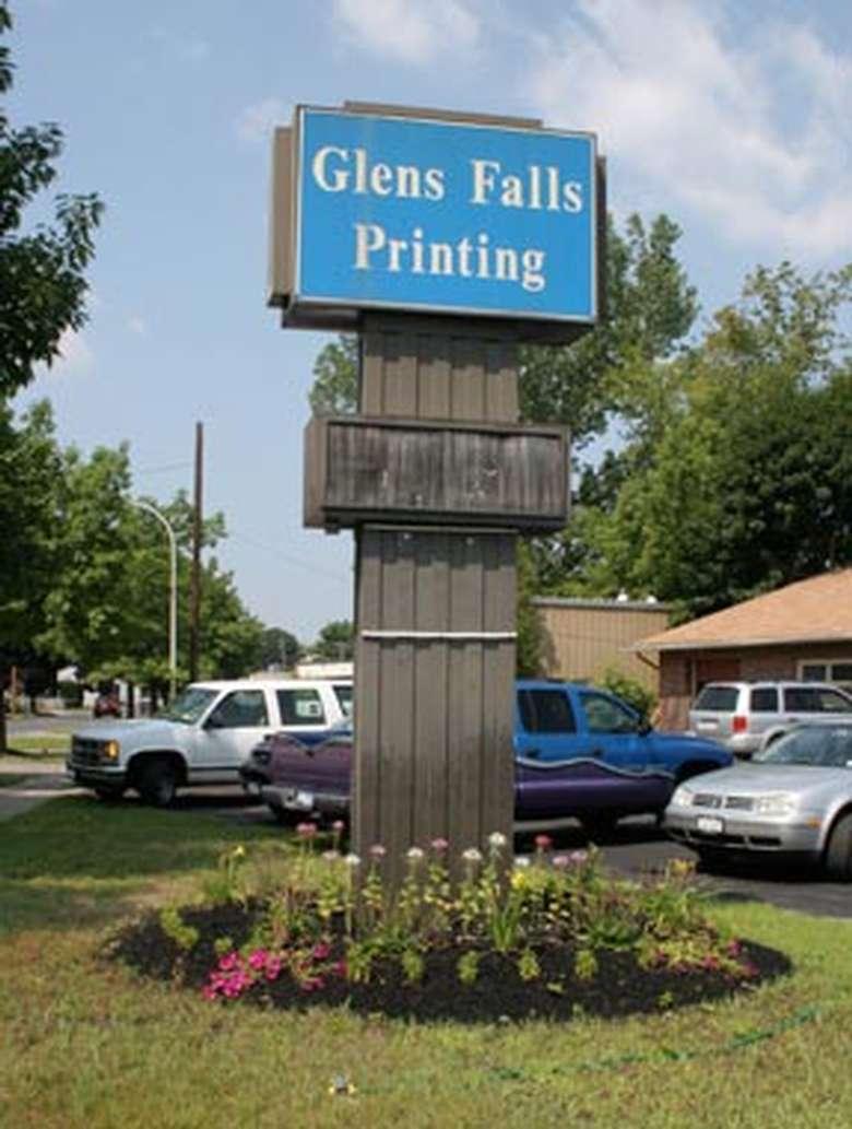 Glens Falls Printing sign