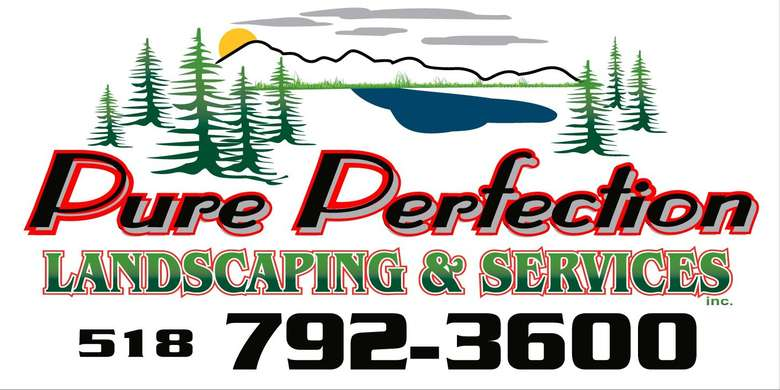pure perfection landscaping logo