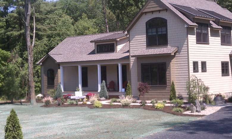 exterior of a home with new landscaping