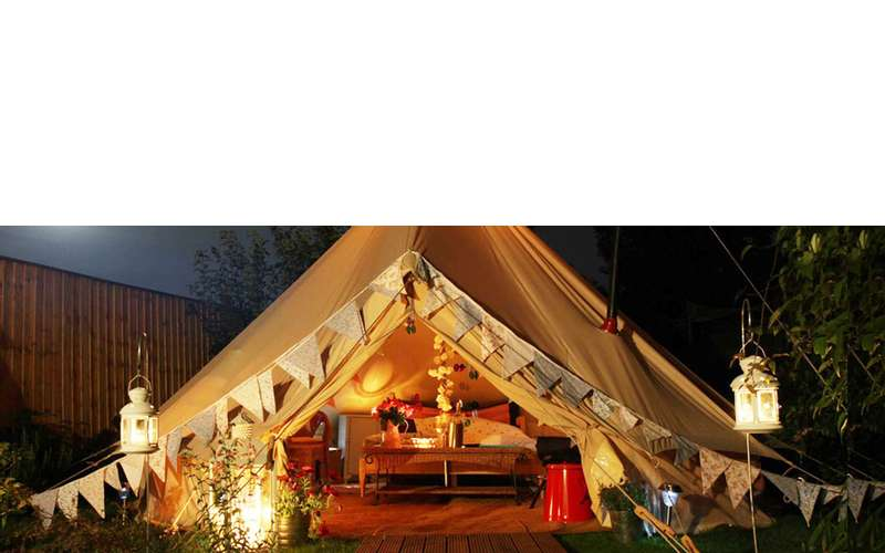 a tent made for glamping