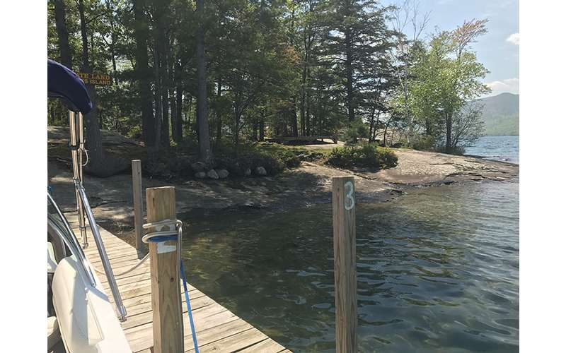 Looking onto Campsite #2 at Agnes Island on Lake George