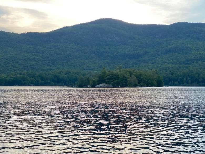 Agnes Island on lake george