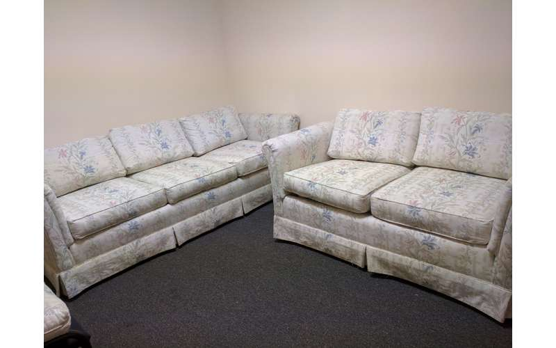Relax on the comfortable couches at Blessings.
