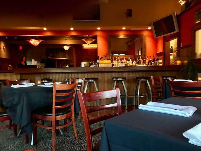 bar area in a restaurant