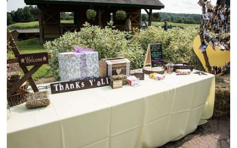 Liberty Ridge Farm will help you with the wedding decorations.