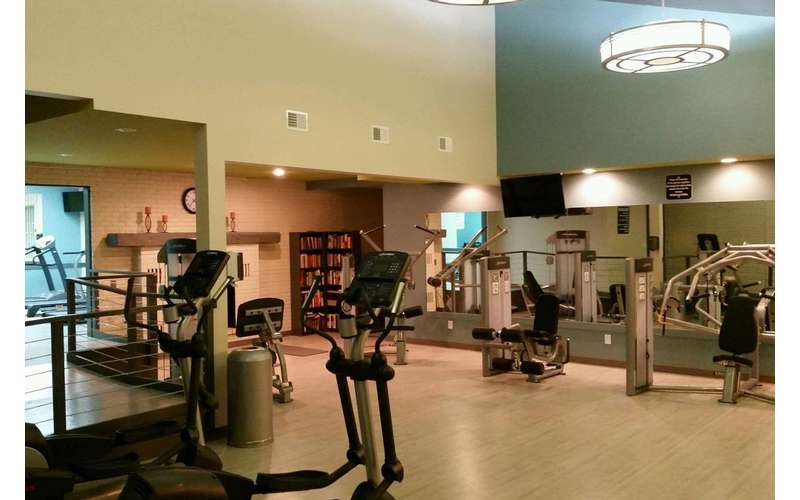 Spend time at Oxford Heights Apartments' fitness club.