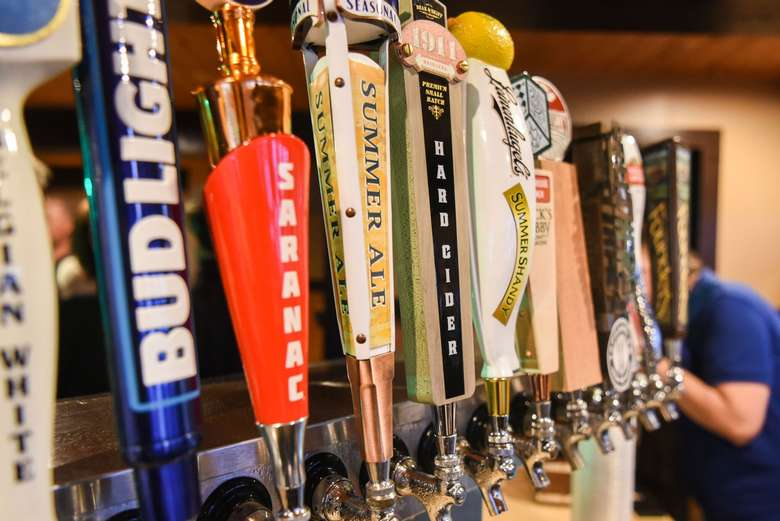 tap handles at lake george beach club
