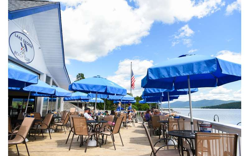 Enjoy a lakeside lunch or dinner on our patio!