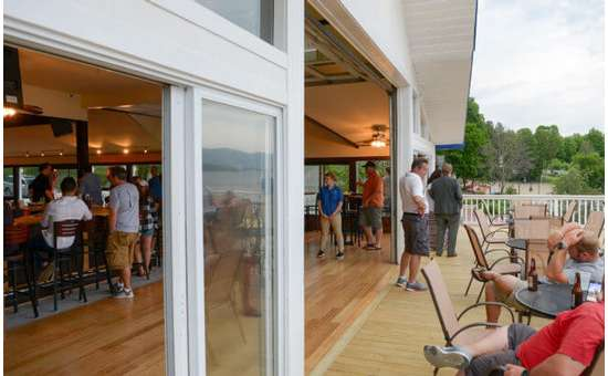 Both floors of the Lake George Beach Club are available for private parties and receptions.