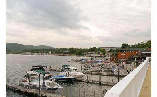 Did you know Lake George Beach Club has their own private dock? Go boating and then dock it there!