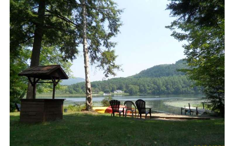 The scenic view from the property at Brant Lake Getaway is simply stunning.