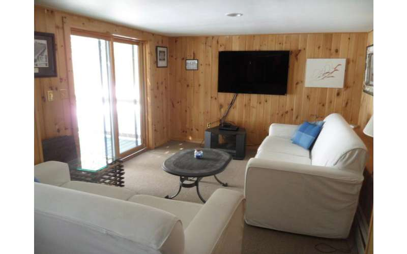 If you're not outside enjoying swimming or fishing you might just be lounging inside by the flat-screen TV.