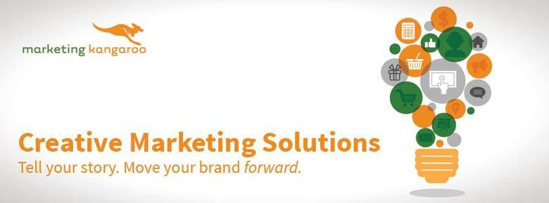 banner that says creative marketing solutions in orange font