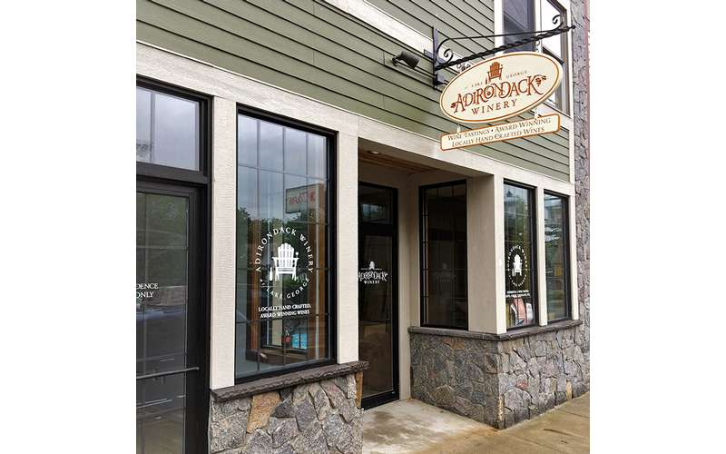 Exterior of Adirondack Winery's Bolton Landing Tasting Room