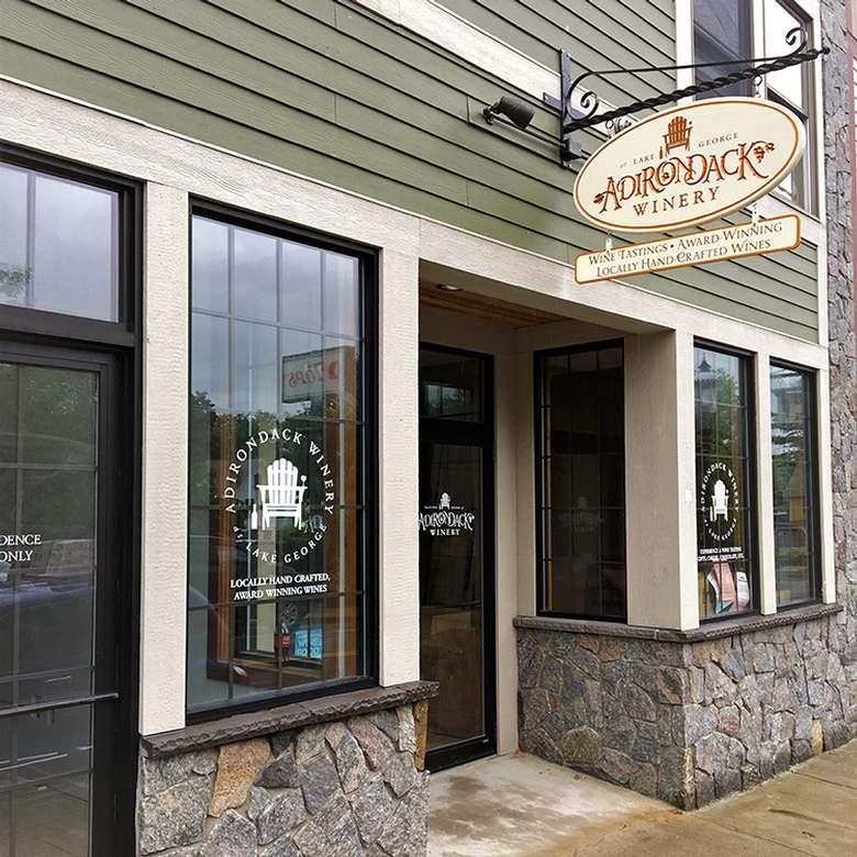 Exterior of Adirondack Winery's Bolton Landing Tasting Room