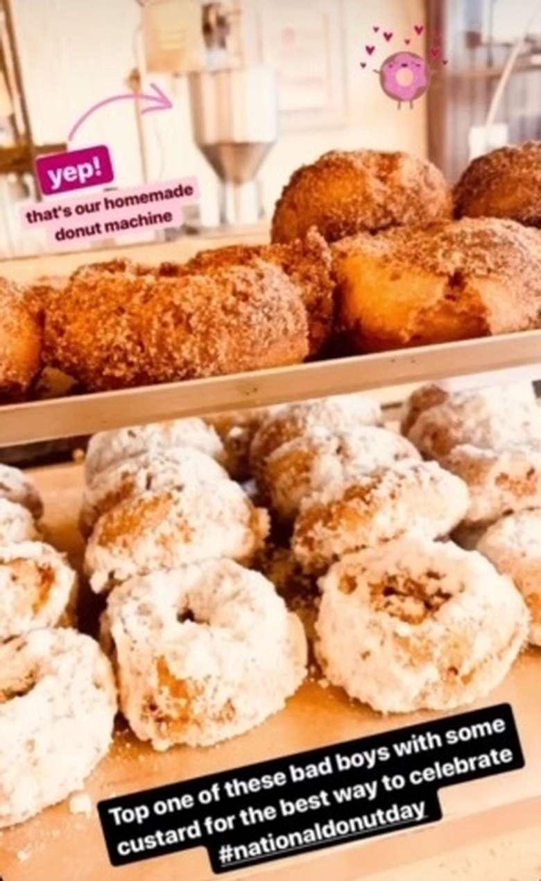 fresh, warm doughnuts