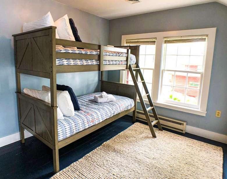 a bunk bed in a bedroom