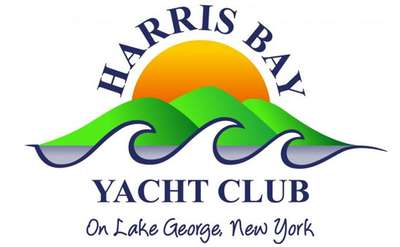 the logo for harris bay yacht club